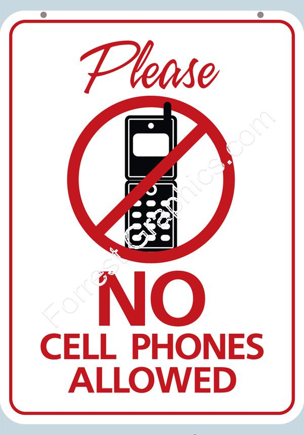 Product Image For Please No Cell Phones With Phone Crossed Out